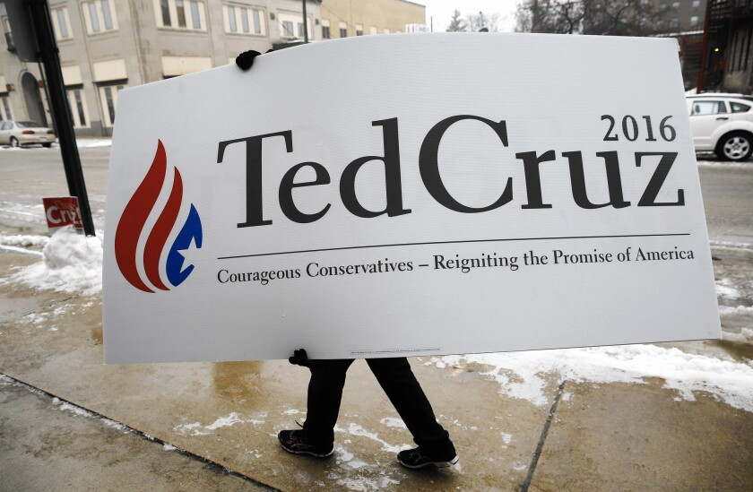 Ted Cruz supporter in Iowa