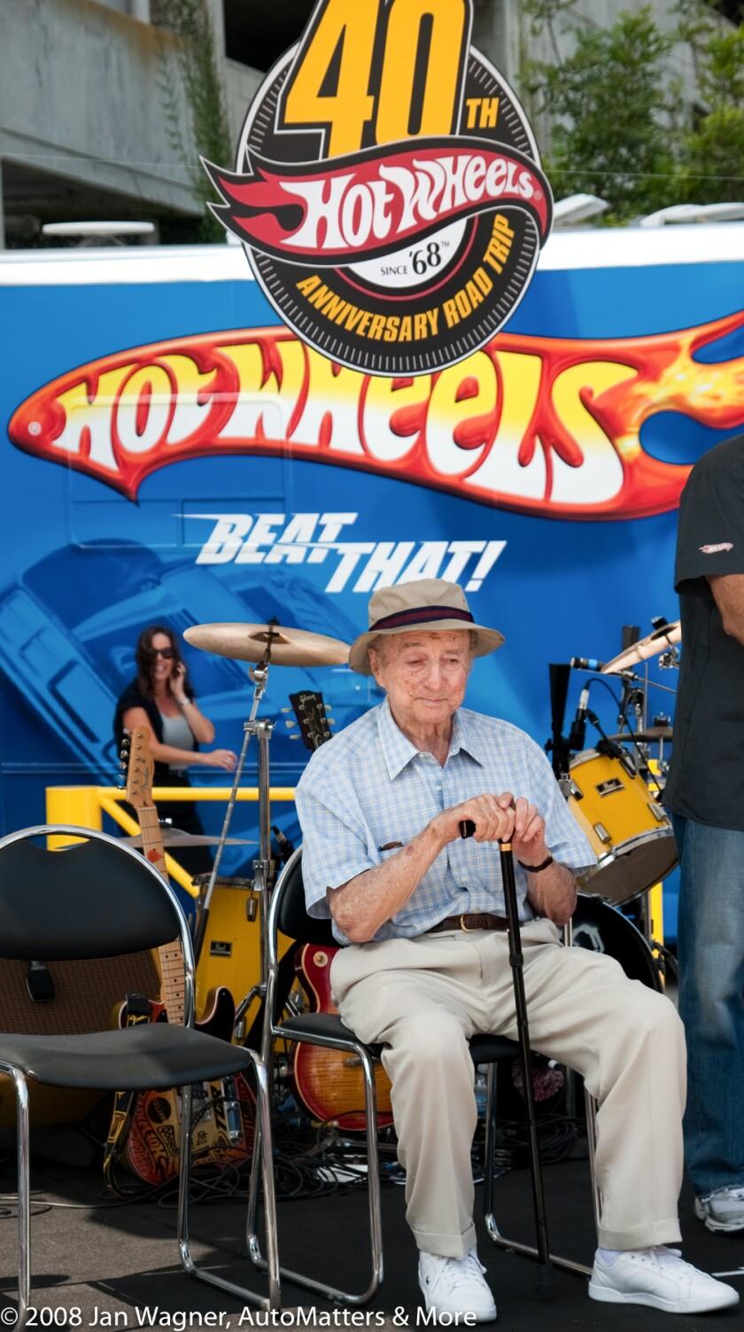 Hot Wheels creator Elliot Handler at the 40th Anniversary celebration