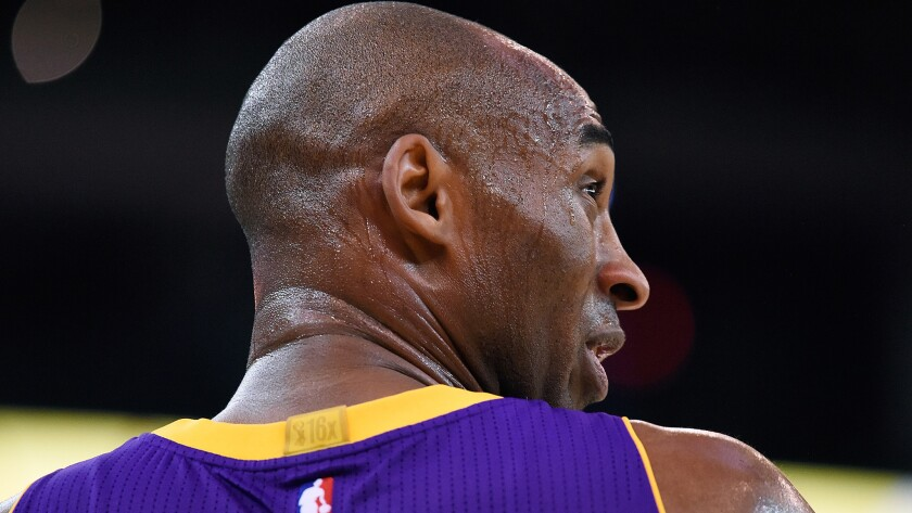 Kobe Bryant is 37 years old and playing his 20th season in the NBA.