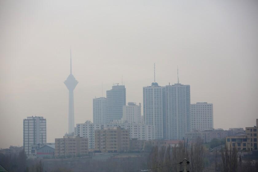 Smog in Tehran, Iran