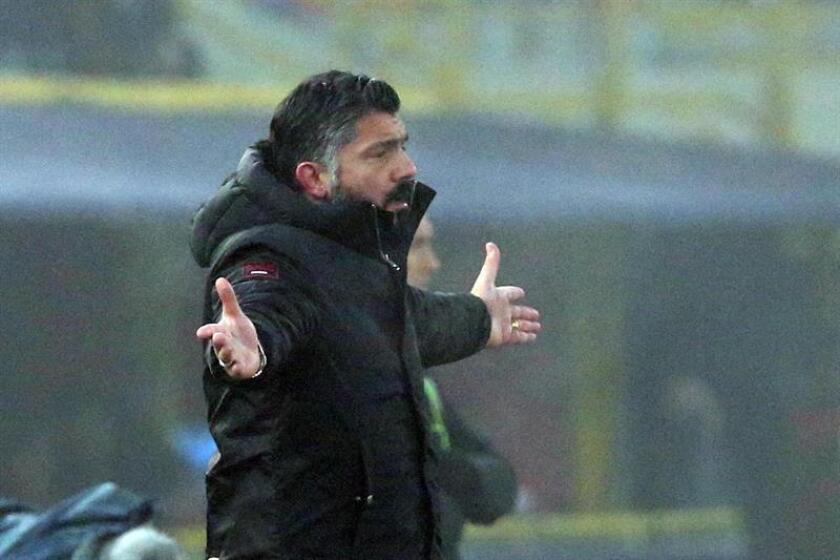 El director técnico del Milan, Gennaro Gattuso. EFE/Archivo