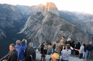 Night falling, Glacier Point and Half Dome, Yosemite
