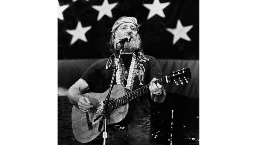 Oct. 26, 1980: Willie Nelson in concert at Anaheim Stadium.