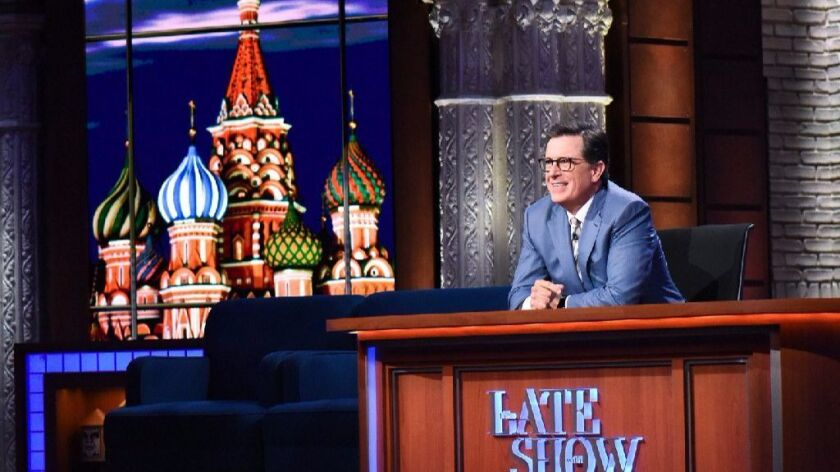 """Stephen Colbert, host of """"The Late Show With Stephen Colbert."""""""