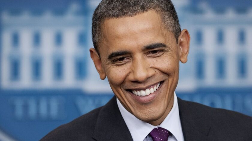 President Obama during a news conference in 2012. The former president has shared his recent reading list.