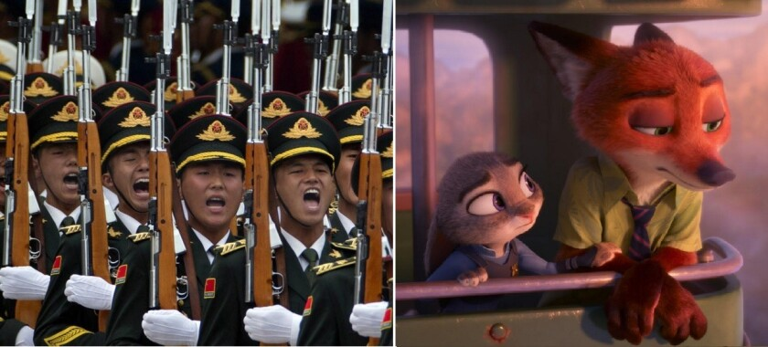 """A Chinese military newspaper calls the Disney animated movie """"Zootopia"""" an instrument of American propaganda."""