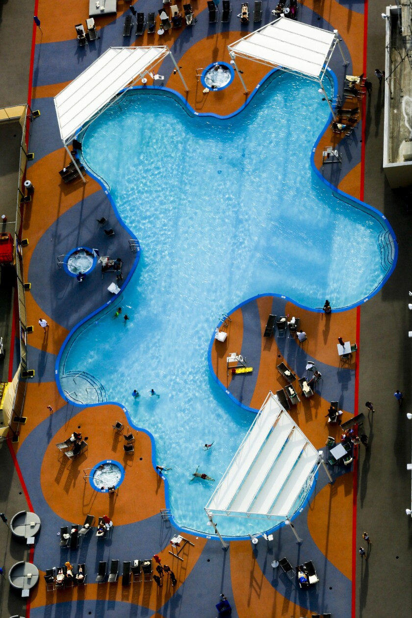 The newly renovation pool at Stratosphere has a new name too: Elation.