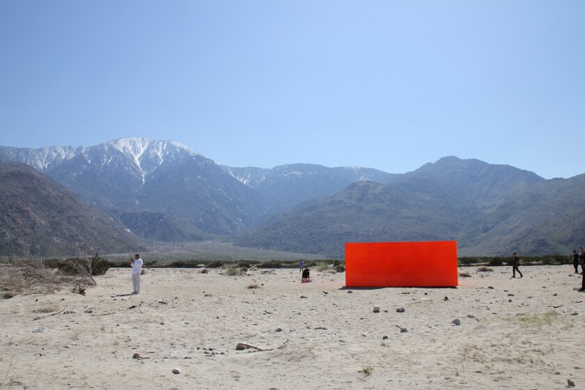 Desert X is going to launch a Saudi version of the biennial in 2020. Seen here: an installation by Sterling Ruby outside of Palm Springs in the 2019 edition of the show.