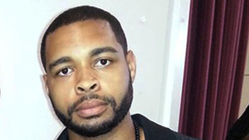 Micah Xavier Johnson, 25, is shown in this April photo from his Facebook page. He is suspected of the sniper slayings of five law enforcement officers in Dallas on Thursday and was killed by police after a standoff. (Facebook via AP)