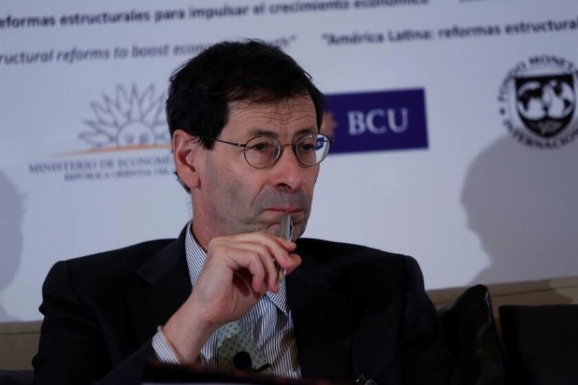El economista jefe del Fondo Monetario Internacional (FMI), Maurice Obstfeld, participa en una conferencia. EFE/Archivo