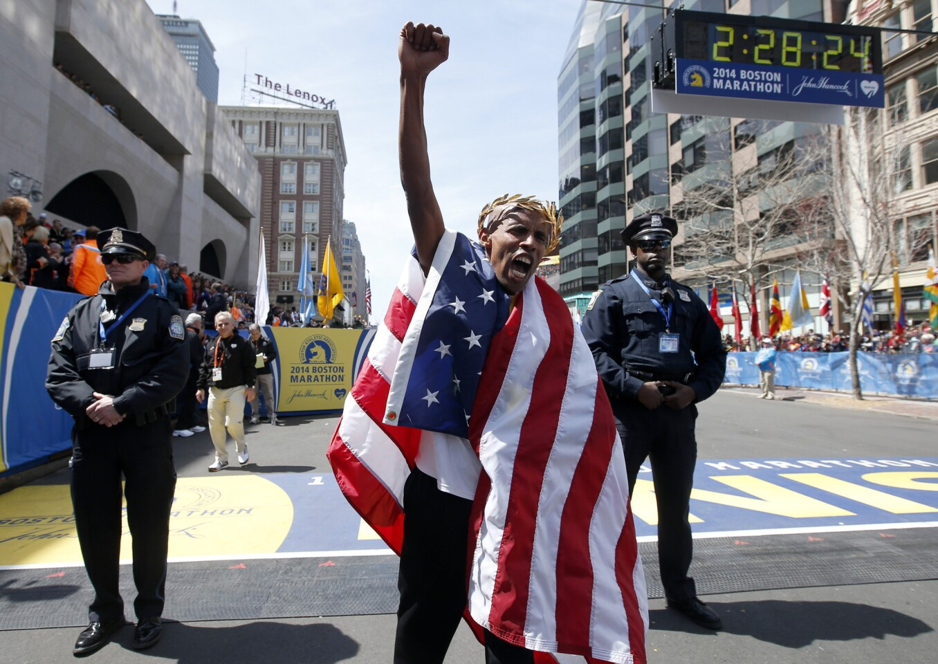 Victory at Boston Marathon