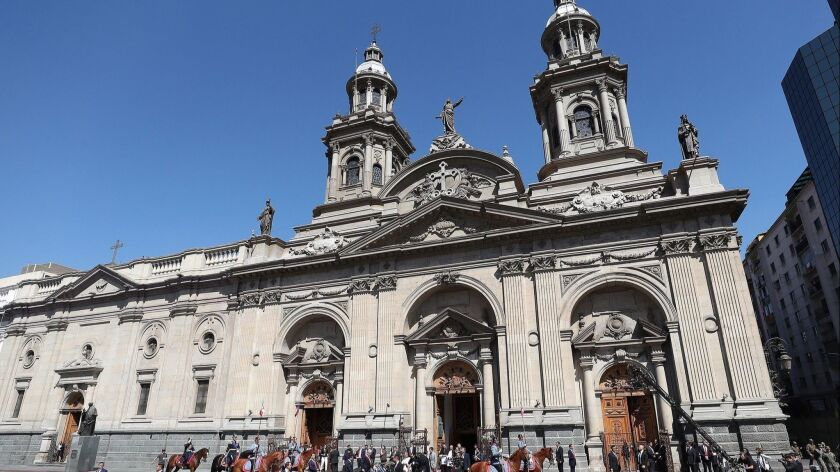 The Cathedral of Santiago, Chile. You can fly to the capital for $753 for travel July 7-20.