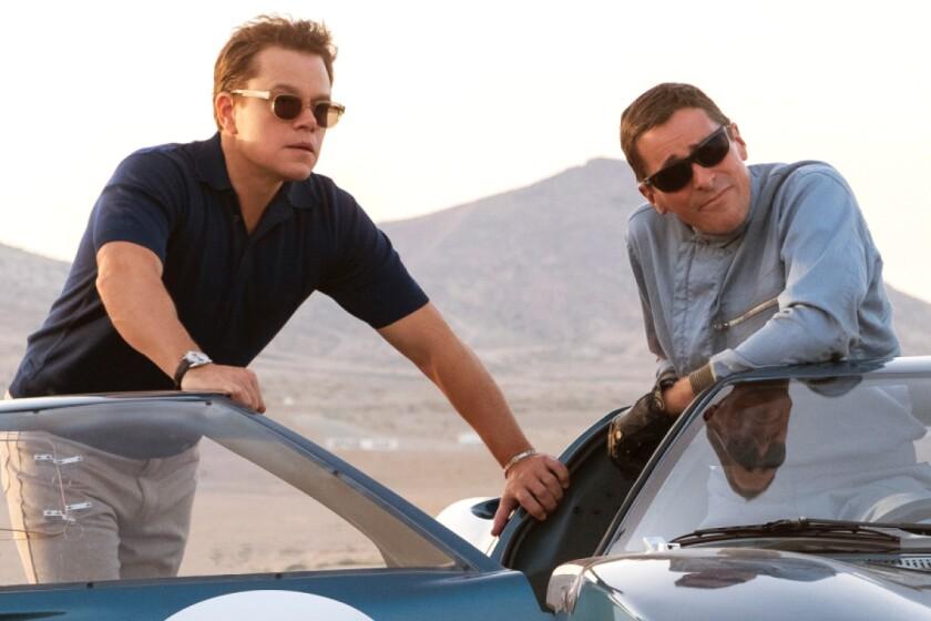 """Matt Damon, left, and Christian Bale in """"Ford v Ferrari."""""""