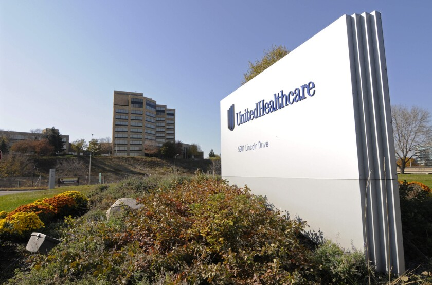 UnitedHealth Group Inc.'s campus in Minnetonka, Minn. The company will be exiting some Obamacare marketplaces in 2016.