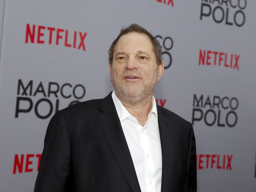 """Weinstein Co. co-Chairman Harvey Weinstein attends the season premiere of the Netflix series """"Marco Polo"""" in New York."""