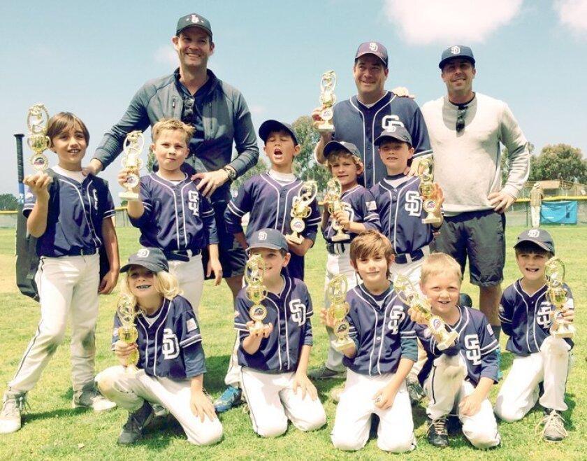 La Jolla Youth Baseball's 2015 Pinto Champions: Palomar Insurance Holdings