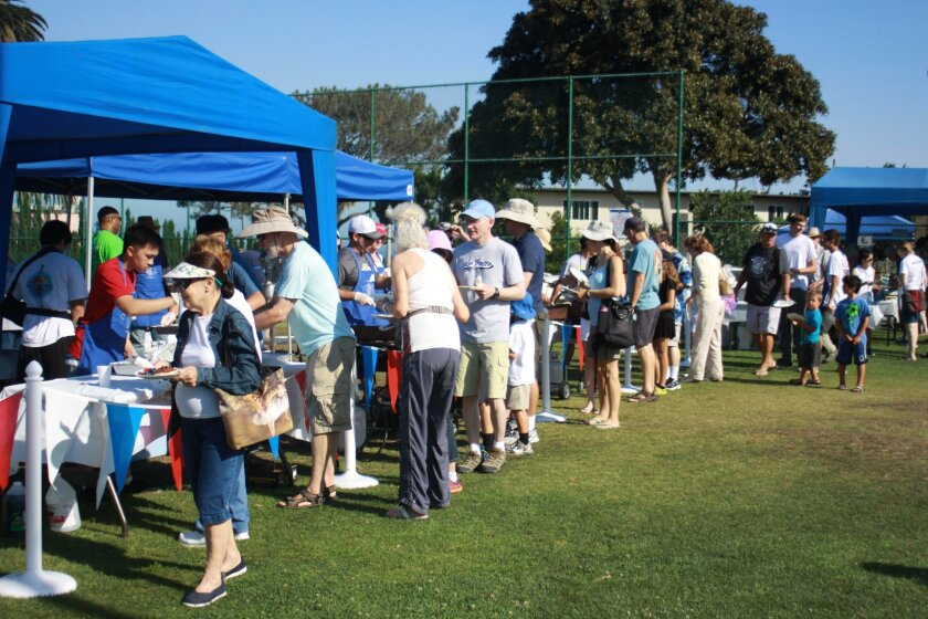 Hundreds of La Jollans attend the Pancake Breakfast throughout the day.