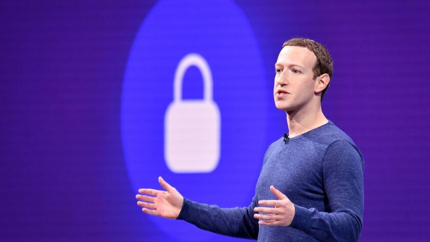 Facebook CEO Mark Zuckerberg speaks during the 2018 F8 summit at the San Jose McEnery Convention Center in San Jose.