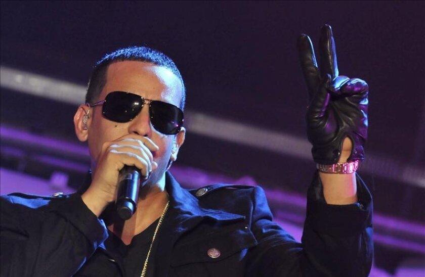 El cantante puertorriqueño de reguetón Daddy Yankee en un concierto en Ciudad de Panamá.  EFE/Archivo