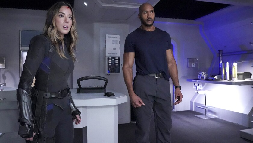 """Chloe Bennet and Henry Simmons in """"Marvels Agents of S.H.I.E.L.D."""" on ABC"""