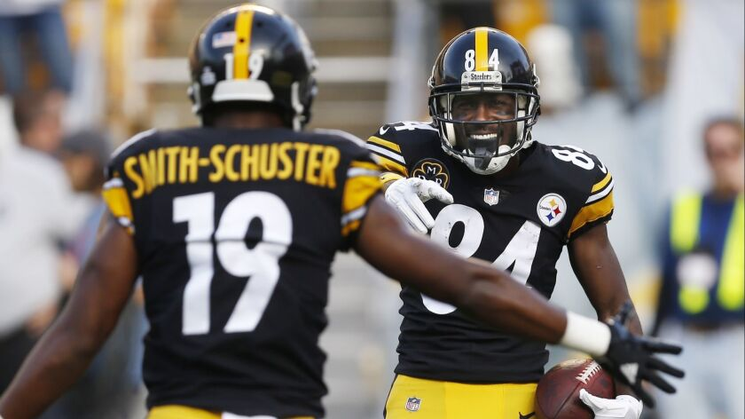 check out 7091f 130a9 Steelers receivers Antonio Brown and JuJu Smith-Schuster ...