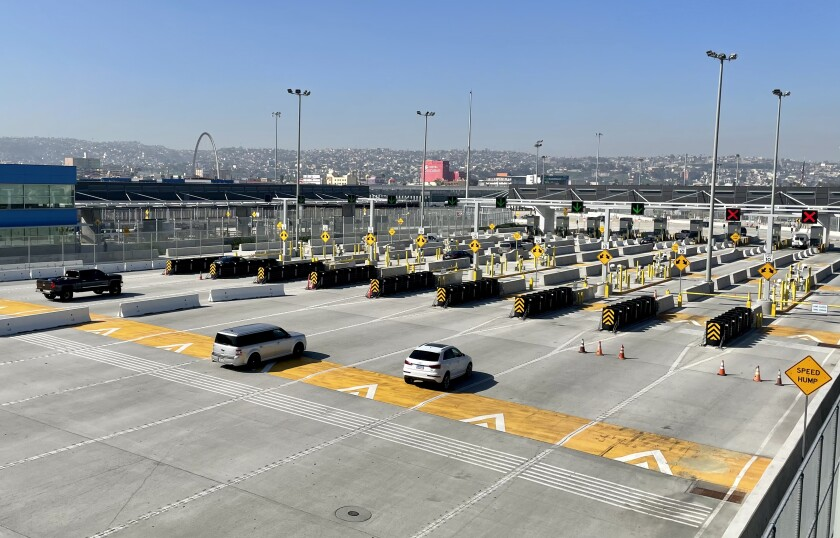 Vehicular border crossing from San Ysidro to Tijuana on Friday , March 19.