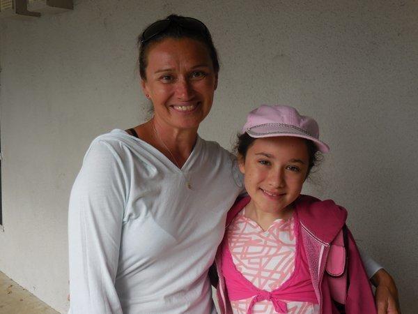 Alyona and sixth grader Tamara Bobkov