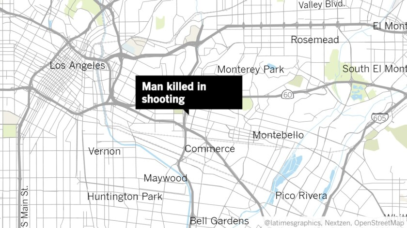 A man was killed in a possible gang-related shooting, police said.