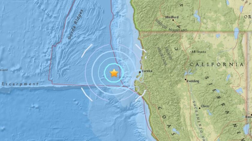 Magnitude 5.1 earthquake strikes off Northern California coast