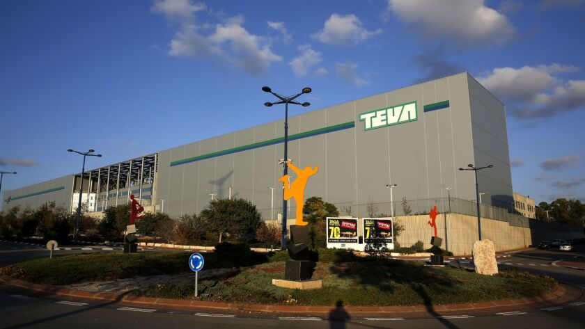 Teva's world logistics center near the Israeli city of Modi'in. Teva's bottom line has been hit by the expiration of patents on the multiple sclerosis treatment Capaxone, pricing pressure on the generics industry and a heavy debt load.