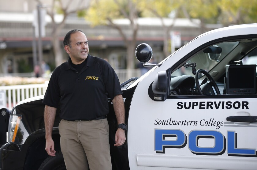 Southwestern College police officer Marco Bareno will benefit from a new partnership between Southwestern College and San Diego State University that will allow community college students to get a 4-year degree from SDSU.
