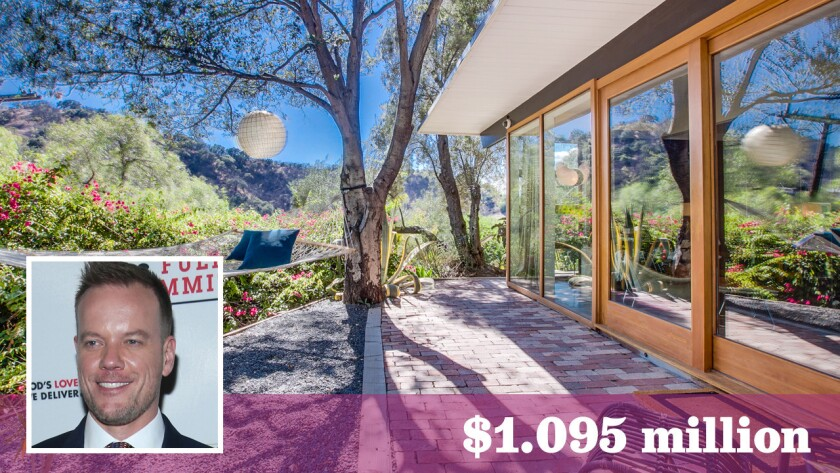 Film, theater and television director Jason Moore has put his Studio City home with ties to screen legend Rock Hudson up for sale at $1.095 million.