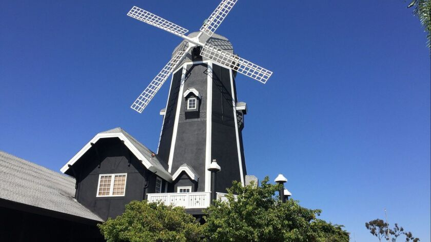 The iconic 1982 windmill building at Palomar Airport Road and Interstate 5 in Carlsbad will soon be transformed into the Windmill Food Hall, opening in late September in Carlsbad.