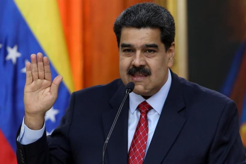 President of Venezuela, Nicolas Maduro at a press conference on Jan. 25, 2019 in Caracas Venezuela EPA- EFE/Cristian Hernández