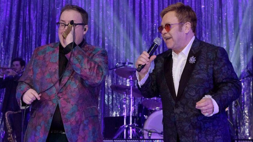 Elton John and Paul Janeway of St. Paul & the Broken Bones