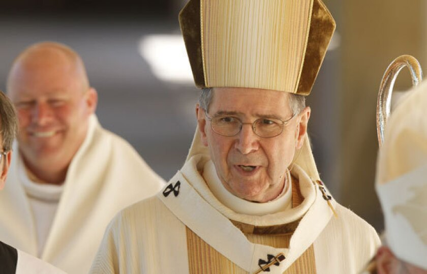 Cardinal Roger Mahony, shown in 2010, was the archbishop of the Los Angeles archdiocese from 1985 until 2011.