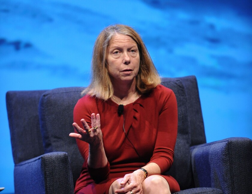 Jill Abramson, shown at the WIRED Business Conference in 2013, was fired Wednesday from her position as the New York Times' top editor.