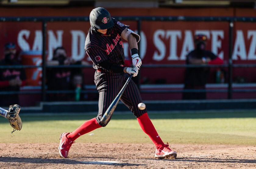 Aztecs sophomore Jaden Fein has multiple hits in six of seven games, going 18-for-34 (.529) in the season's first two weeks.