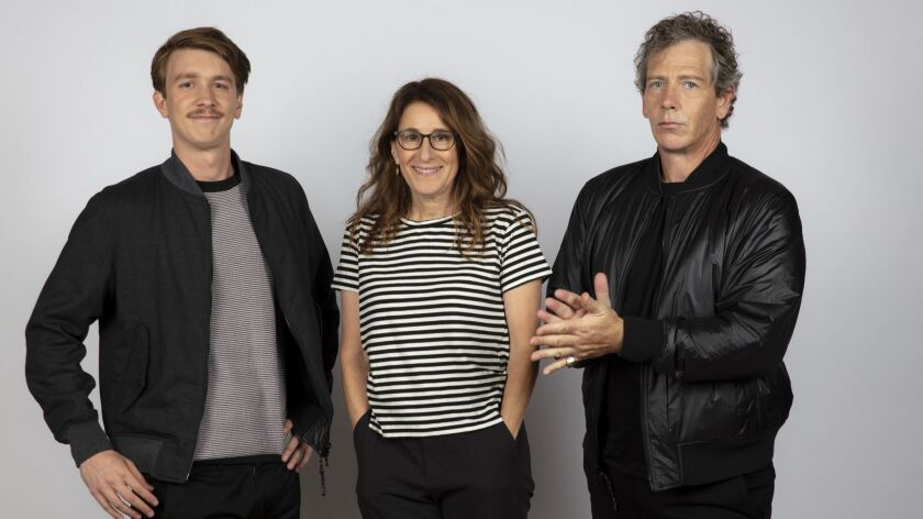 TORONTO, ONT., CA -- SEPTEMBER 09, 2018-- Actor Thomas Mann, writer/director Nicole Holofcener, and