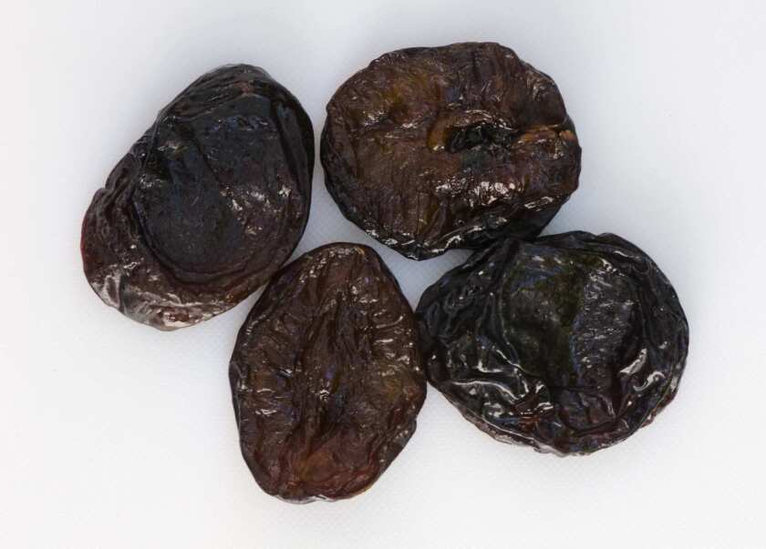 Hard to handle, but tasty: Muir Beauty prunes grown by Allan Lombardi in Exeter.
