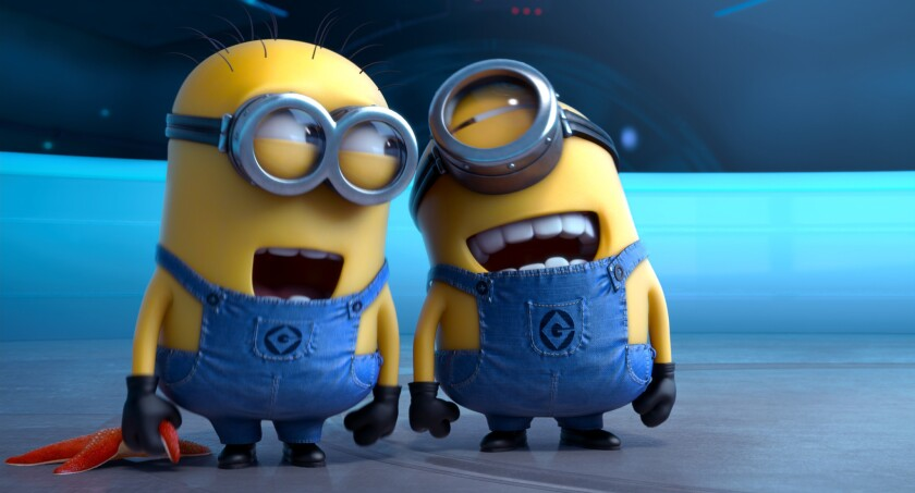 """Mischievous minions in the film """"Despicable Me 2."""""""