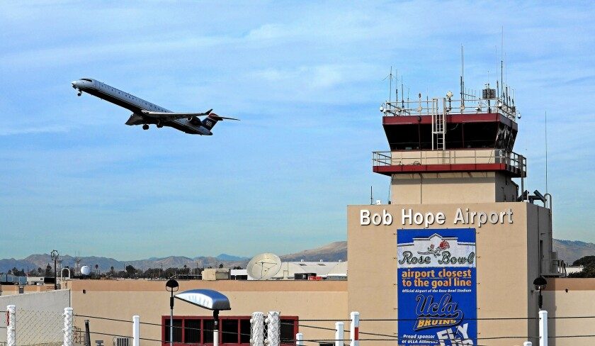 Bob Hope Airport officials hope a promotional effort aimed at college sports fans increases use of the Burbank facility.