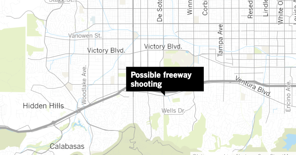 Map Of Arizona Freeway Shootings.Eastbound 101 Freeway Closed In Woodland Hills As Officers