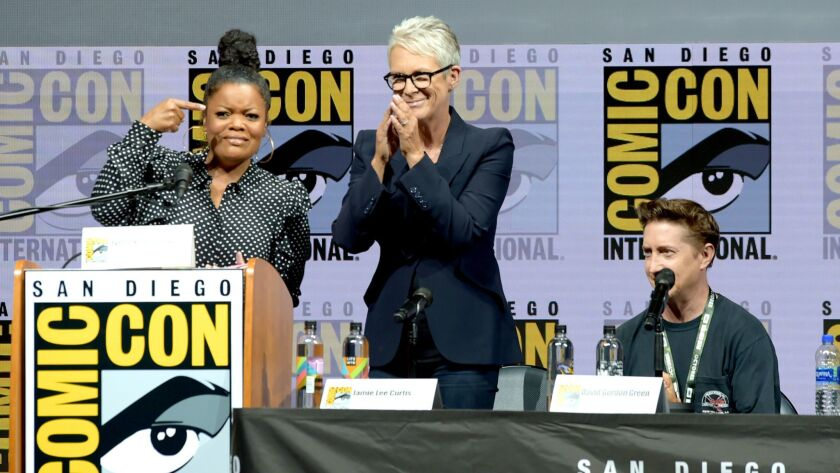 "Comic-Con International 2018 - Universal Pictures' ""Glass"" And ""Halloween"" Panels"