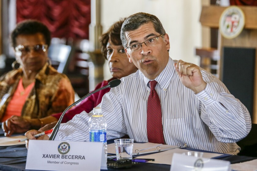 Rep. Xavier Becerra (D-Los Angeles), seen here at a gun violence event in June, was selected by Gov. Jerry Brown to be California's next attorney general. He would be the first Latino to hold the office in state history.