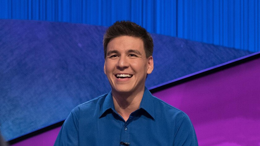 James Holzhauer on 'Jeopardy!' in June.
