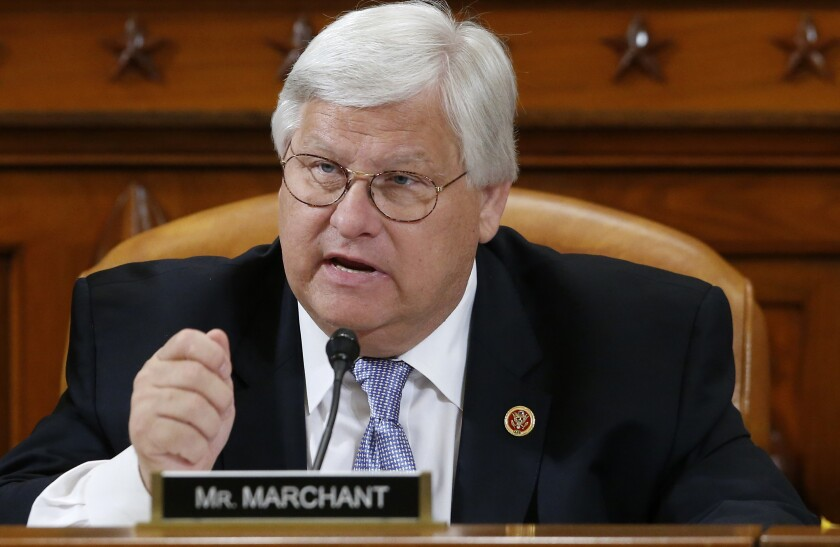 Rep. Kenny Marchant (R-Texas) speaks on Capitol Hill in Washington, D.C., on May 17, 2013.