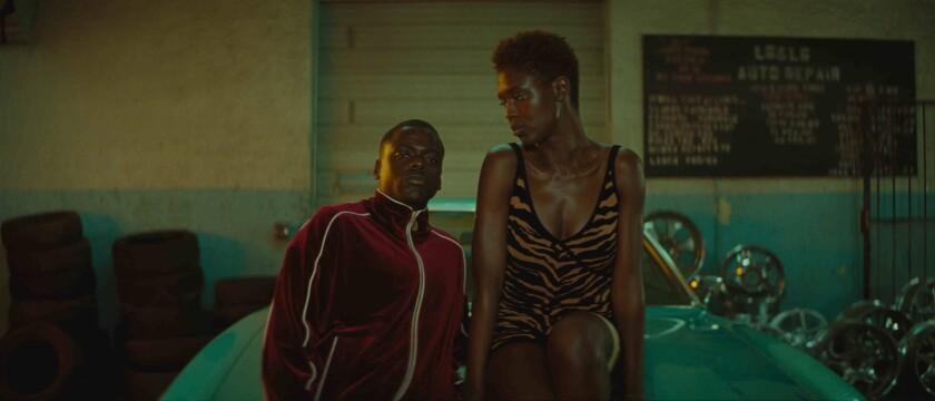 "Daniel Kaluuya stars as Slim and Jodie Turner-Smith as Queen in Universal's ""Queen & Slim."""