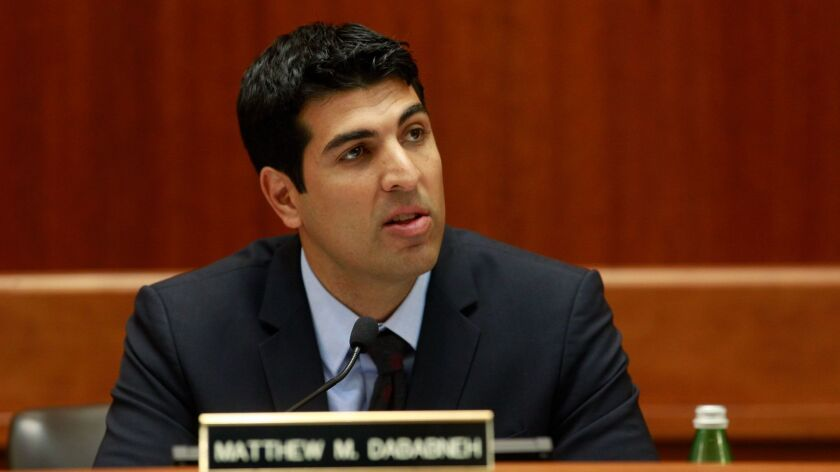Assemblyman Matt Dababneh (D-Woodland Hills) faces accusations of sexual misconduct.