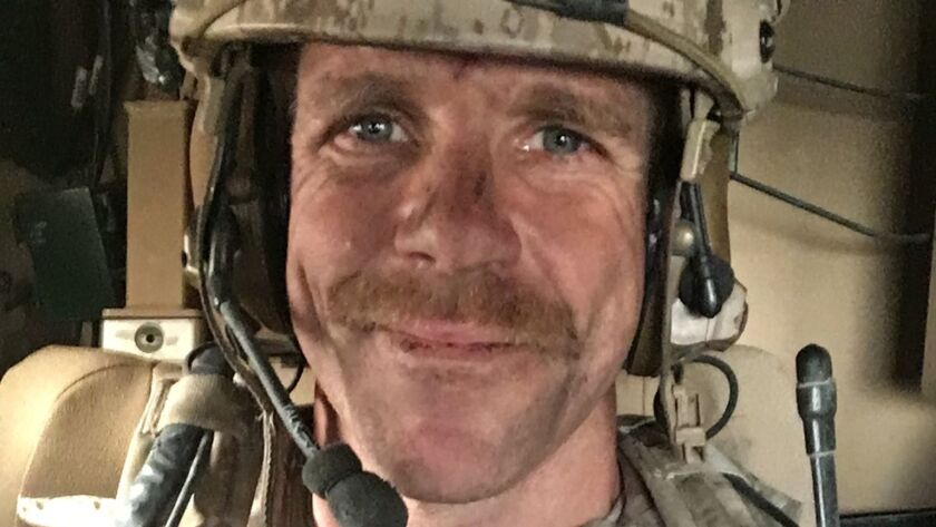 Special Operations Chief Edward Gallagher, seen during his 2017 deployment, who may face a military trial on murder and other charges.